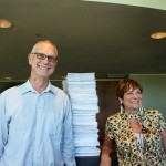 Karl Ory and Cheryl King, FFM, look pleased after submitting the Petions.